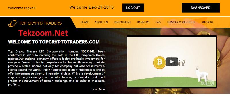 [SCAM] Review TopCryptoTraders - Lãi 6% hằng ngày cho 20 ngày - Đầu tư tối thiểu 20$ - Thanh toán Manual