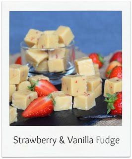 Like all confectionery, this homemade Strawberry & Vanilla Fudge recipe makes the perfect edible gift.  It's packed with yummy naughtiness, and is actually straightforward to make!