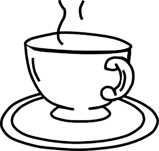 Free Coloring Pages, Free Clipart, Coffee / Tea Coloring Page Clipart