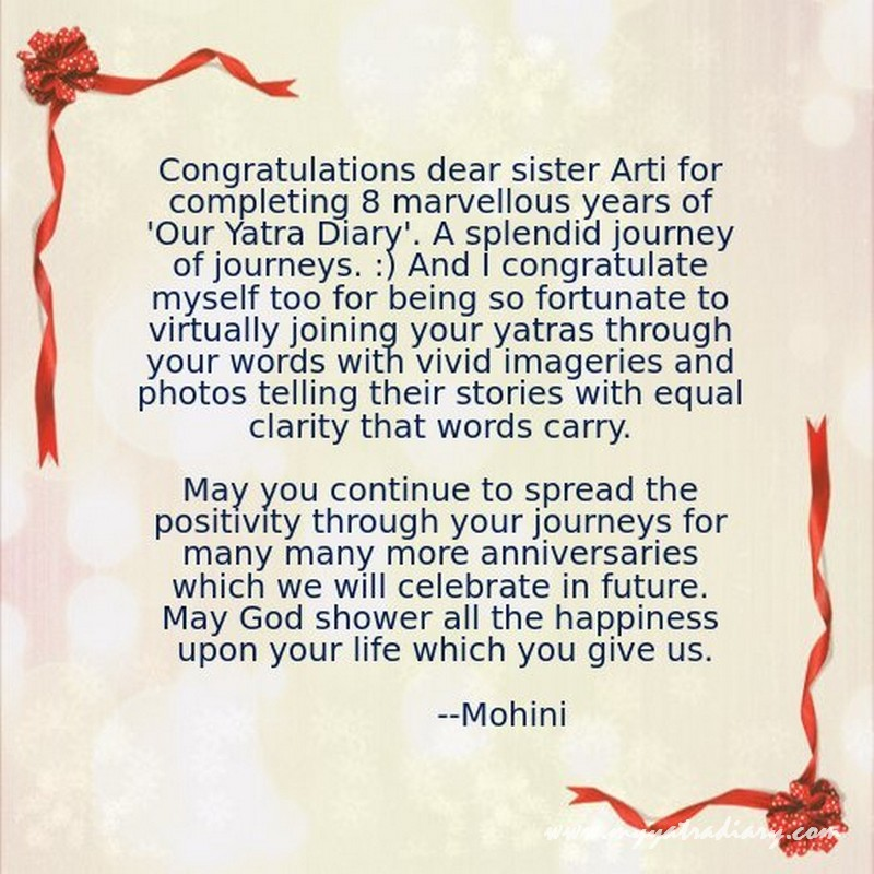 Anniversary card for blog by Mohini