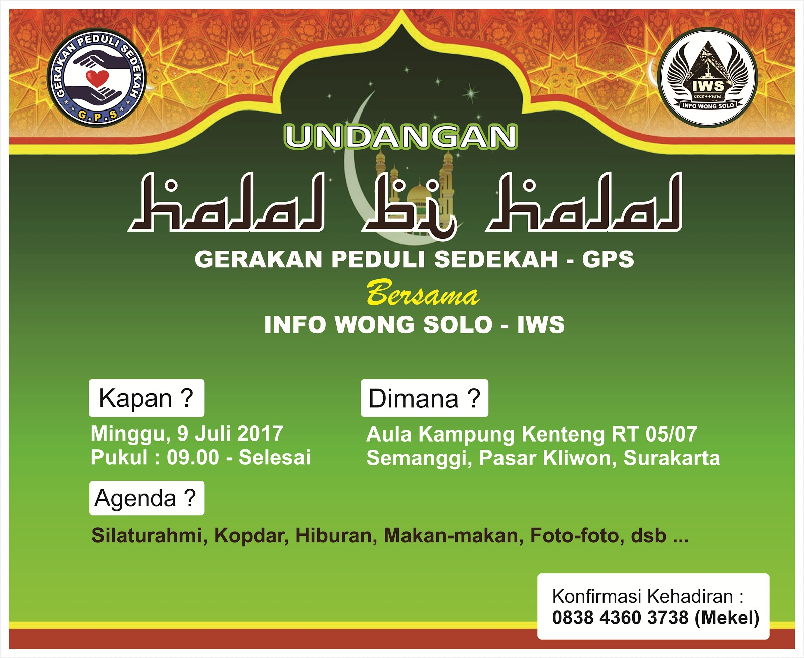 Halal Bihalal 1438h Gps Dan Iws Gerakan Peduli Sedekah