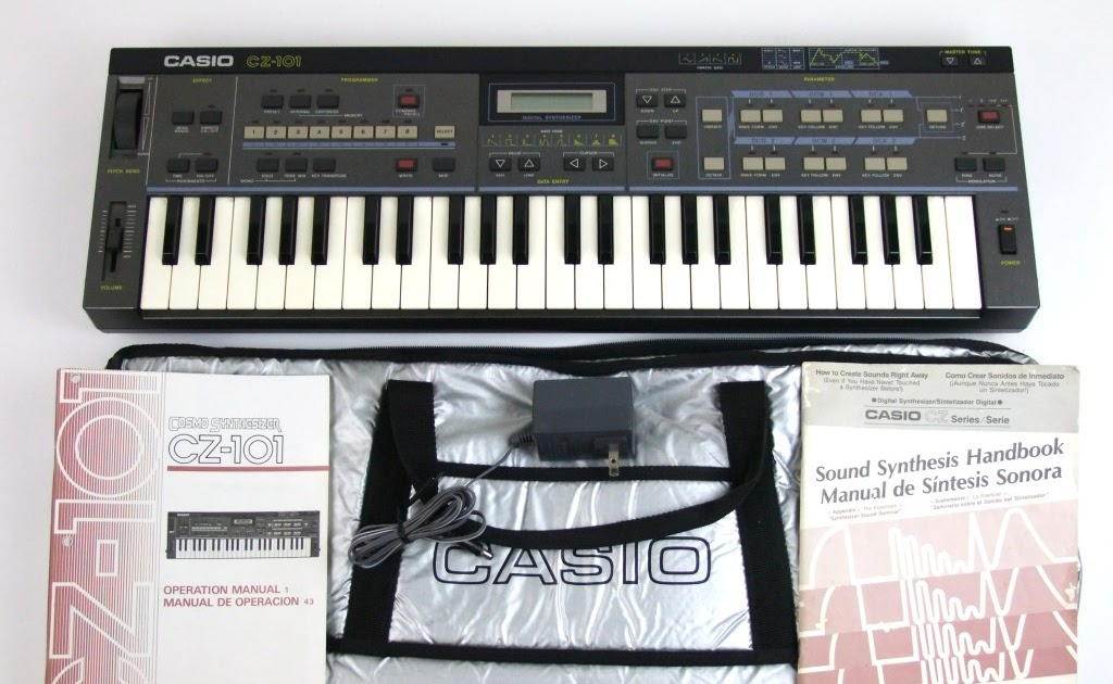 matrixsynth casio cz 101 with original silver bag rh matrixsynth com casio cz 101 user manual Casio CZ 230s Synthesizer