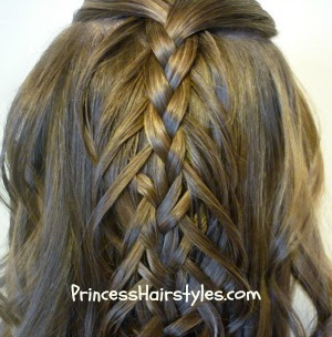 unique braid for long hair