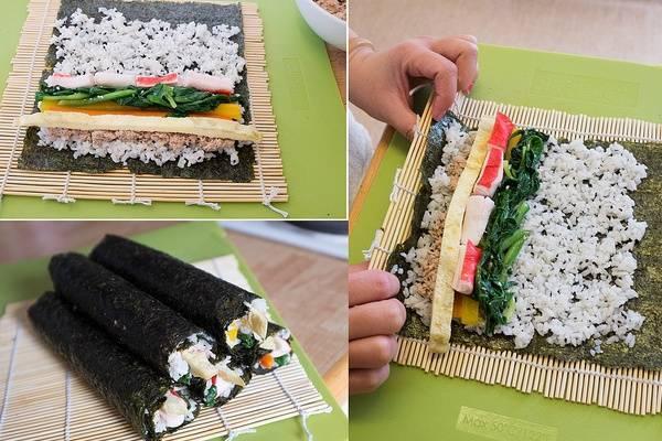 Cách làm sushi cuộn rong biển
