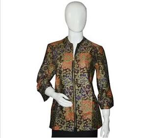 Model Seragam Batik Guru Wanita Modern Masa Kini