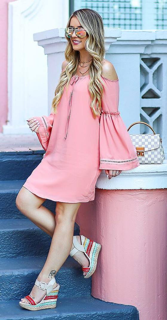 beautiful pink dress