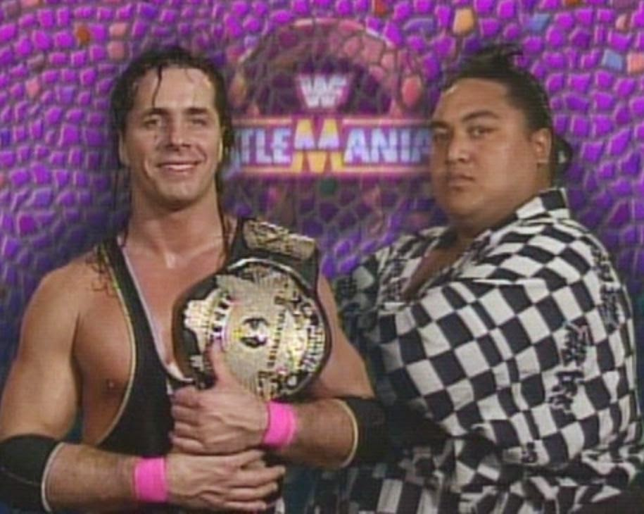 WWE / WWF WRESTLEMANIA 9: Yokozuna challenged Bret 'The Hitman' Hart for the WWF title