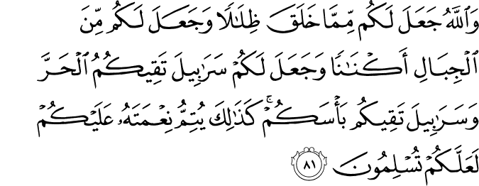 Surat An Nahl Ayat 81