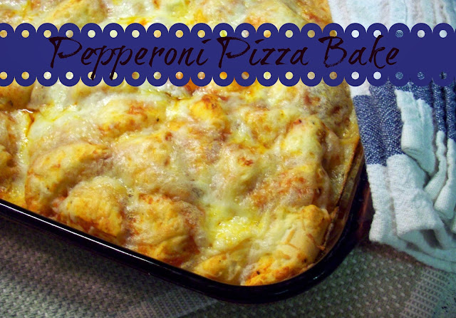Pepperoni Pizza Bake from www.summerscraps.com