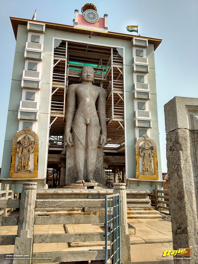 Bahubali the Gommateshwara monloith in Karkala, Udupi district, Karnataka, India