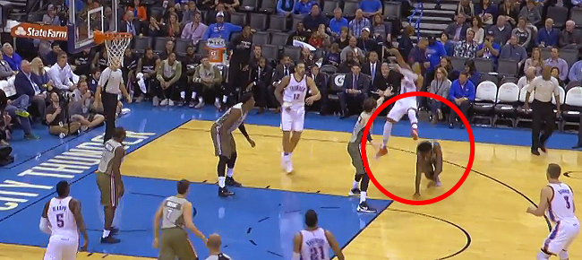 Russell Westbrook Scores and Assists on 20 Straight Points for OKC (VIDEO)