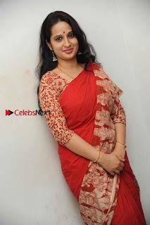 Kannada Actress Lakshmi Hegde Pos in Red Saree at Tab Movie Press Meet  0008.jpg