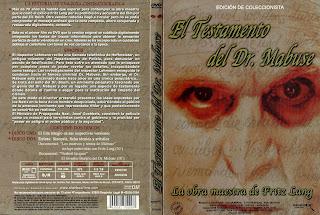 Carátula dvd: El testamento del Dr. Mabuse (1933) (Das testament des dr. Mabuse)