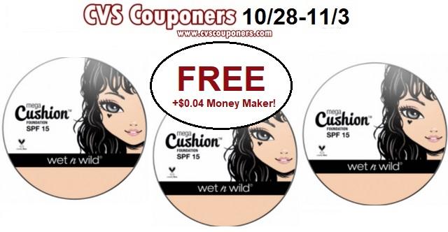 CVS Couponers CVS deal Wet N Wild Cushion Foundation