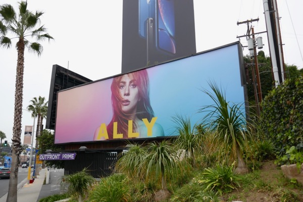 Lady Gaga A Star is Born Ally billboard Sunset Strip