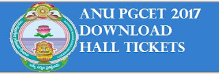 ANU PGCET Admit Cards 2017
