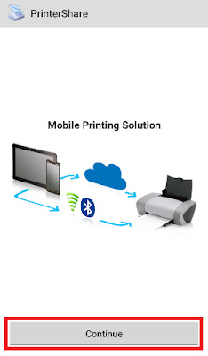 how to give print from mobile
