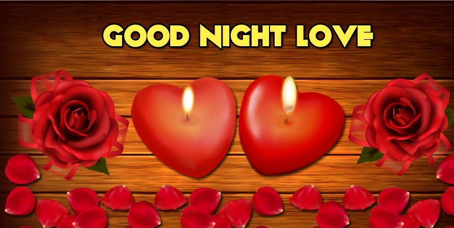 Romantic Good Night Wishes With Red Rose