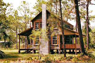 Traditional wood framed house in Florida built out of pine and cypress