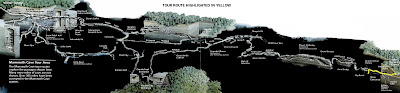 Mapa de Mammoth Cave - El sistema de cuevas más grande del mundo