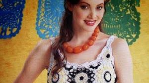 Hermoso vestido de verano al crochet