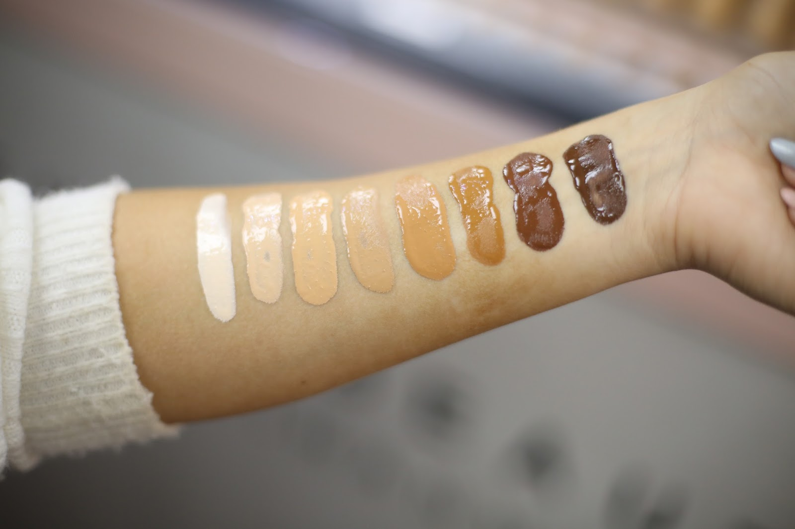 fenty beauty swatches foundation