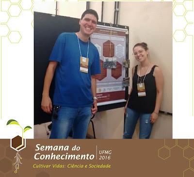 O atual Coordenador do Programa, o professor de música Paulo Henrique, mais conhecido como Pity, e nossa atual Bolsista e autora do trabalho no XIX Encontro de Extensão, Jéssica Ribas.
