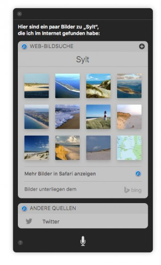macOS Sierra: To find images with Siri on the Internet