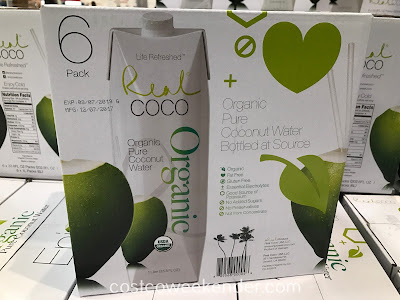Costco 947404 - Real Coco Organic Pure Coconut Water: refreshing and tastes good