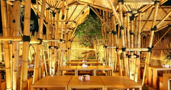 classic culture asian resturant cafe bamboo architecture design