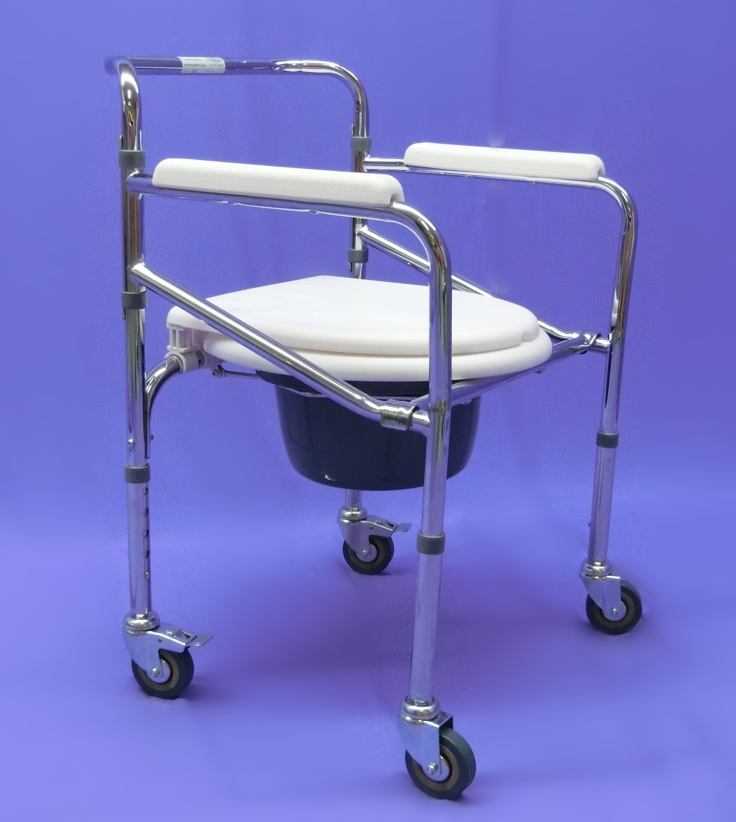 shower chair malaysia blue parsons adjustable folding commode with castor