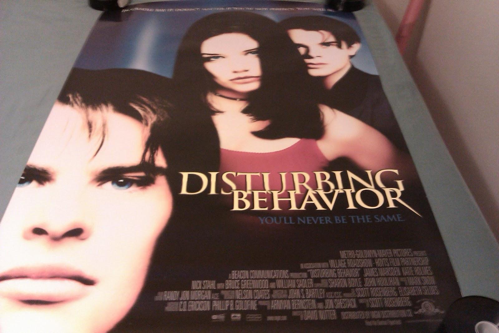 Movie poster disturbing behavior