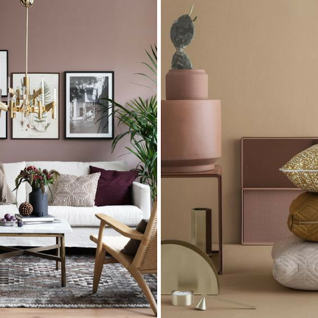 Pink walls and styling • the round button blog