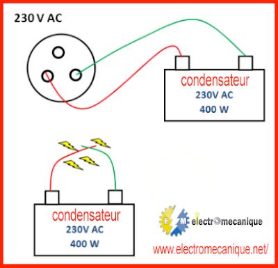 Comment tester un condensateur electromecanique for Comment verifier un condensateur