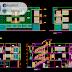 مشروع عمارة سكنية + تجاري بطابقين اوتوكاد dwg
