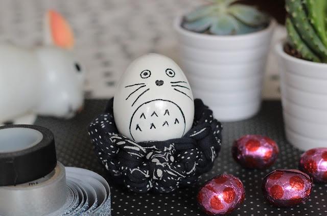 décorer oeuf pâques totoro
