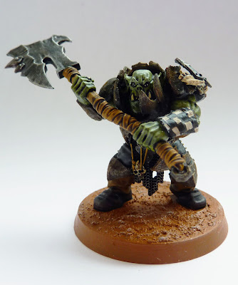 Ironjawz Brute with jagged gore-hacka