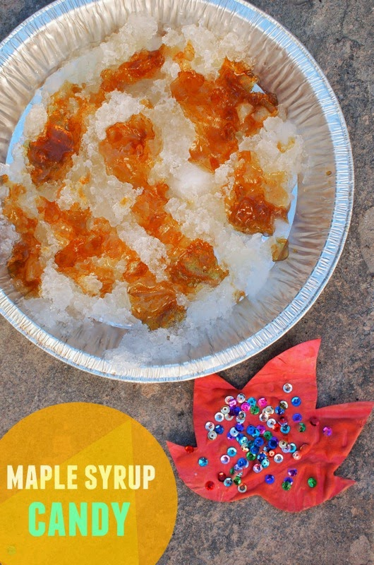 Make maple syrup candy using snow and maple syrup! (Great Fall and winter activity for the kids)