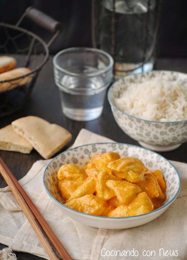 Pollo al curry con manzana y piña-cocinando-con-neus