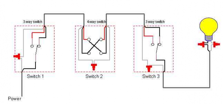 4 Way Switch Electrical Plan Electrical Circuit Electrical Wiring