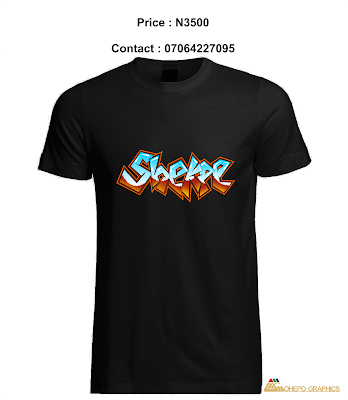 Shekpe Graffiti Digital Art Design [Photos] Printed On  Black T-Shirt
