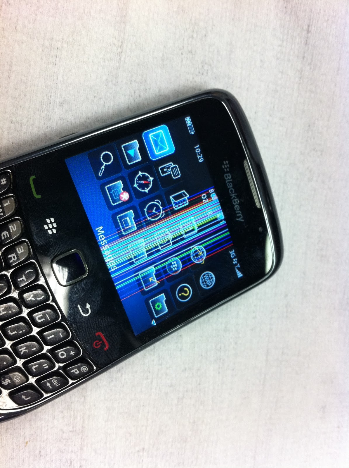 The Repair Blog: Blackberry Curve 9300 LCD replacement