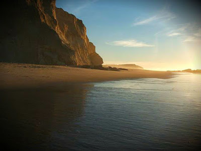 Dragon Beach Morocco sunset