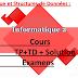 cours et examen et Exercice Informatique 02 st-sm s2