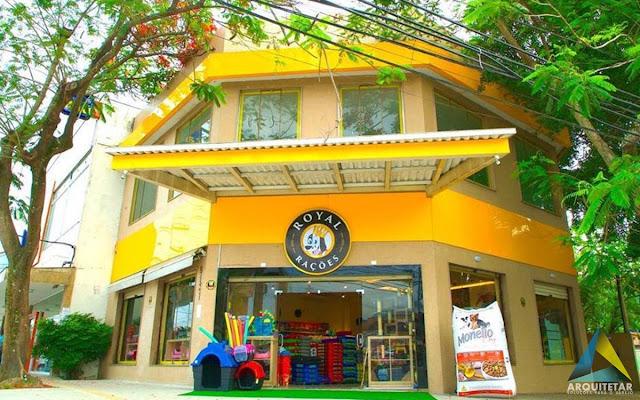 projeto arquitetura fachada letreiro loja royal rações pet shop