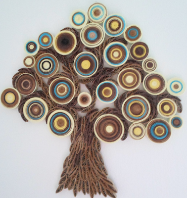 Tree model quilling wall art frames designs - quillingpaperdesigns