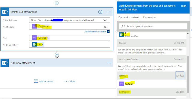 upload attachment to sharepoint list item using microsoft flow