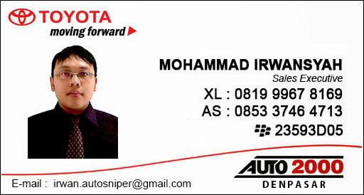 Daftar Harga Mobil Toyota Terbaru 2015 di Denpasar, Bali