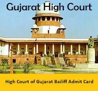 High Court of Gujarat Bailiff Admit Card