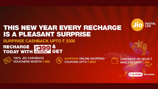 Jio Surprise Cashback Offer to Give Benefits Worth Up to Rs. 3,300
